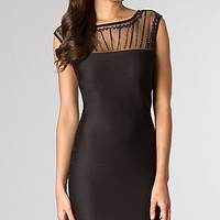 Knee Length Fitted Cap Sleeve Dress