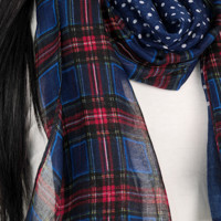 9AM Blues Scarf: Multi