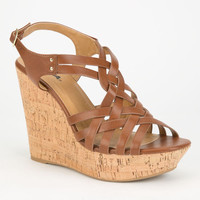 Soda Online Womens Wedges Tan  In Sizes