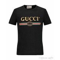 2019 New Designers Tops for Men Shirt Couple Sport Tide Brands Clothing Tshirt green red luxury men T-shirt Women Clothing gi- Gucci