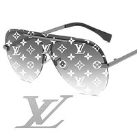 LV Louis vuitton sells casual women's printed beach sunglasses