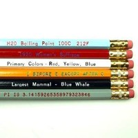Know It All No 2 Pencil Set by paperpastries on Etsy