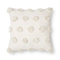 "Cream Pom Dot Square Throw Pillow (18""x18"") - Nate Berkus™"