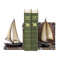 91-3907 Pair Sailboat Bookends