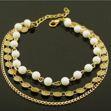Shiny New Arrival Sexy Jewelry Cute Ladies Gift Accessory Stylish Bohemia Simple Design Handcrafts Chain Anklet [6768770631]