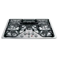 GE, Cafe 36 in. Deep Recessed Gas Cooktop in Stainless Steel, CGP650SETSS at The Home Depot - Mobile
