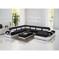 Delightful Soothing Leather Sofa For Living Room