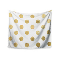 """KESS Original """"Scattered Gold"""" Wall Tapestry"""