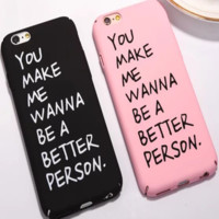 Simple Letter Apple iPhone 6/6Plus Hard Shell Case iPhone 7 Couple Phone Case Set Two-Piece