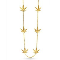 The Weed Charm Necklace - Designed by Snoop Dogg x King Ice