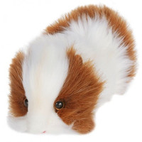 "Hansa Plush Realistic Stuffed Animal - Brown and White Guinea Pig 8""L"