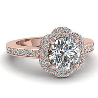 AMAZING 1.53CT ROUND SOLITAIRE STUD 925 STERLING SILVER ENGAGEMENT RING FOR HER