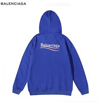 Balenciaga wave print letter pullover hoodie sweater