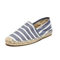 Classic Stripe Espadrille in Navy and White by Soludos