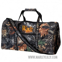 Monogrammed Camo Duffel Bag | Personalized Custom Bag | Marley Lilly