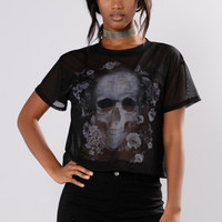 Best Nightmare Mesh Tee - Black