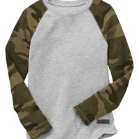 Factory Contrast Camo Thermal Tee
