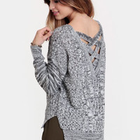 Baltic States Marled Cableknit Sweater