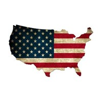 United States Shaped Sign with Flag from Joe's Goods