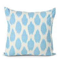 Blue Spotted Silk Pillow
