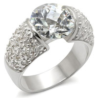 Sterling Silver CZ Ring 3.5 Carats