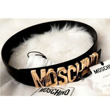 MOSCHINO letters Belt fashion wild candy candy belt