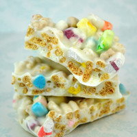 1lb White Chocolate Lucky Charms Cereal Bark