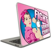 Macbook Air or Macbook Pro (13 inch) Vinyl, Removable Skin - Fight For A Cure - Pink Ribbon / Breast Cancer Awareness
