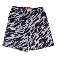 Black and White Camo Sublimated Lacrosse Shorts