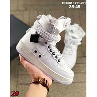 Nike Air Force 1 SF AF1 Fashion Women Men Casual Leather High Top Running Sport Shoes Sneakers 2# White I-AA-SDDSL-KHZHXMKH