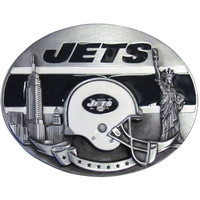 New York Jets NFL Enameled Belt Buckle