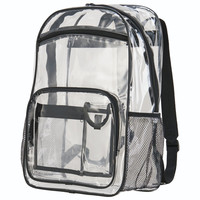 Augusta 2204 Clear Backpack - Clear Black