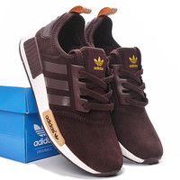 "Fashion ""Adidas"" Women Trending NMD Running Sports Shoes Coffee color"