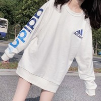 ADIDAS selling trendy women's arm logo printed turtlenecks