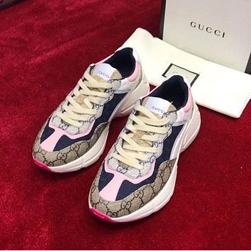 GG Men's and Women's Platform Sneakers Shoes