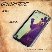 Hello Bear For Ipod 5 Case Gift Present - Multiple Choice Material
