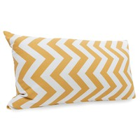 Yellow Chevron Small Pillow