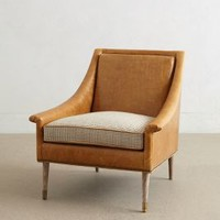 Leather Tillie Armchair by Anthropologie