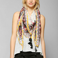 Floral Oversized Square Scarf - Urban Outfitters