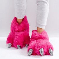 Loungeable Monster Claw Slipper at asos.com