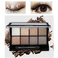 Maquiagem Brand Makeup Naked BASICS 8 Color Glitter Matte Eyeshadow Palette Makeup Eye Shadow Palettes Cosmetic With Brush