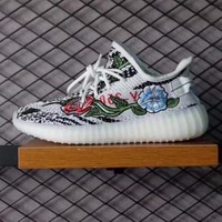 ??READY STOCK??2017 Hot Fashion zebra Flower of adidas yeezy 350v2 great color