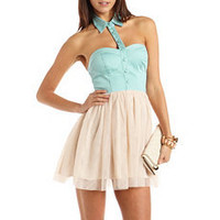 Cutout Collar 2-Fer Dress: Charlotte Russe