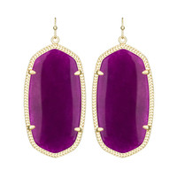 Kendra Scott Danielle Purple Jade Earrings 14K Gold