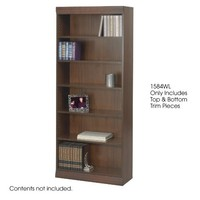 """Safco Products 1584WL Square-Edge Bookcase Trim Kit, 36"""" Wide (Bookcase sold separately), Walnut"""