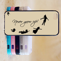 Peter Pan,Never Grow up,Custom Case, iPhone 4/4s/5/5s/5C, Samsung Galaxy S2/S3/S4/S5/Note 2/3, Htc One S/M7/M8, Moto G/X