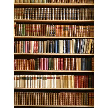 Vintage Bookshelf Library Printed Backdrop - 297