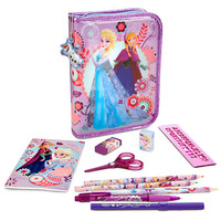 Anna and Elsa Zip-Up Stationery Kit