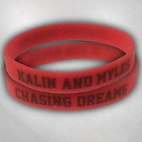 Kalin and Myles - Red silicone wristband [KAM4005]: Now Just $5.00
