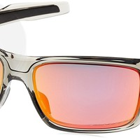 Oakley Mens Turbine Oo9263-10 Polarized Iridium Rectangular Sunglasses New
